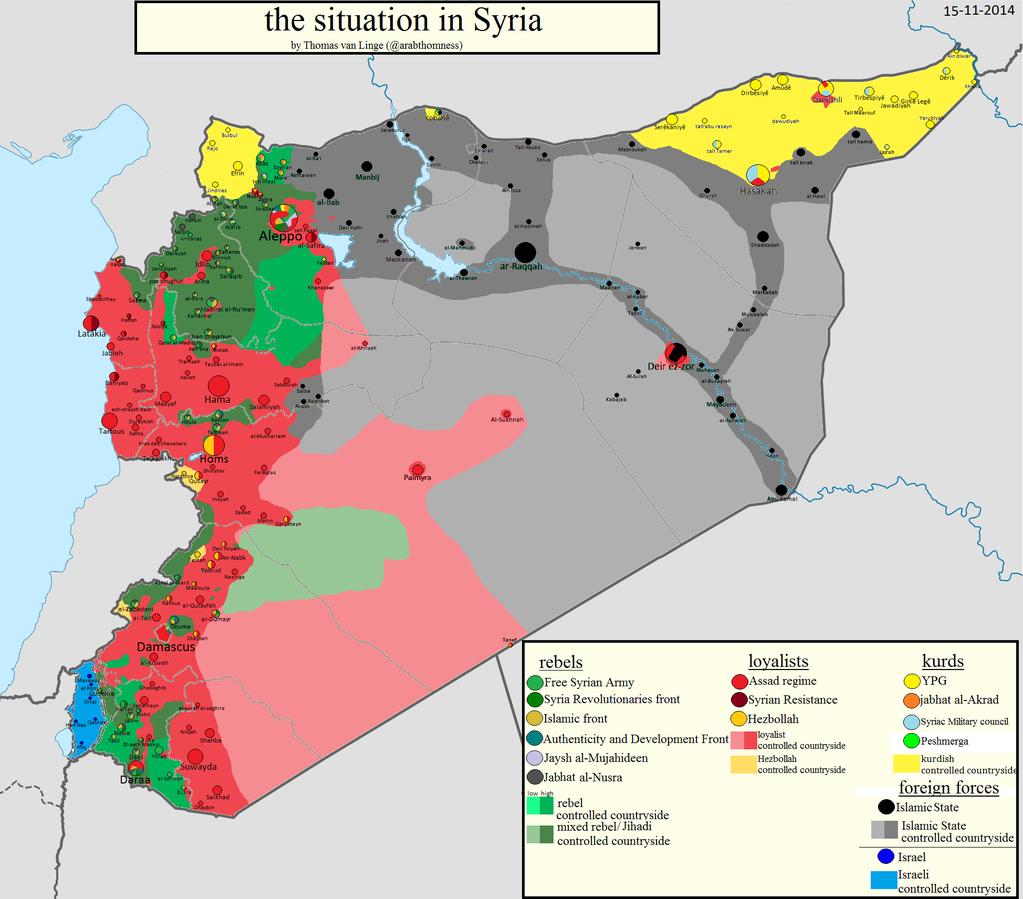 Karte Syrien.Neue Syrien Karte 15 11 2014 Nachrichten Aus Der Islamische Welt