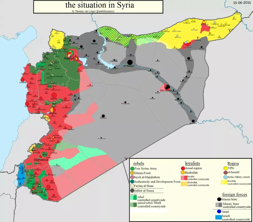 Syrien Irak Karte.Karte Uber Die Situation In Syrien Irak Und Libyen