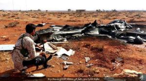 #IS behauptet eine Drohne nahe #Derna abgeschossen zu haben und veröffentlicht mehrere Bilder