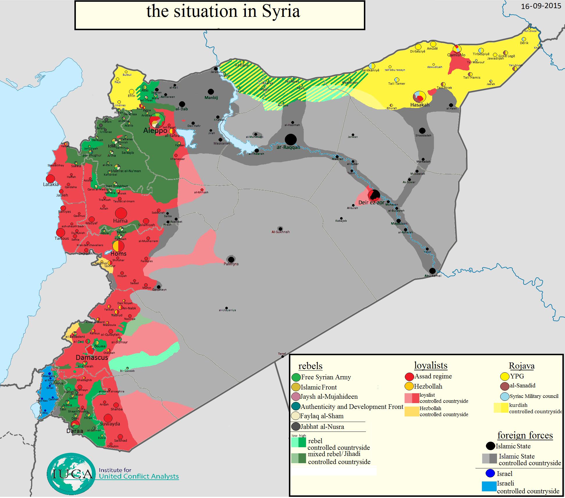 syrien karte aktuell Situation in Syrien und Irak (Karte) | Nachrichten aus der